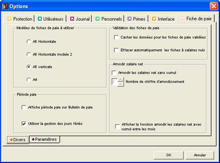 fiche paie excel Toucharger